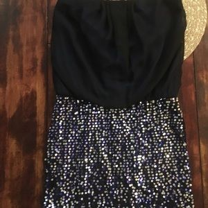 As U Wish Strapless Sequin Mini Dress